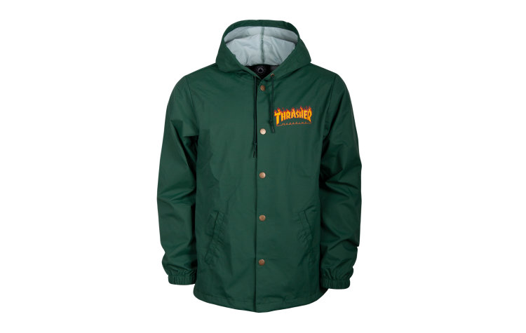 THRASHER Flame Logo Coach Light Jacket (504309-FGR)