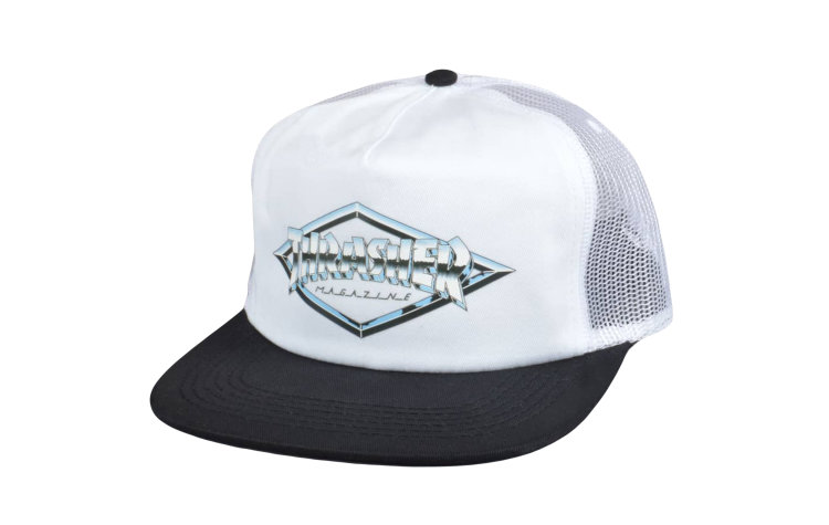 THRASHER Diamond Emblem Trucker (565155-WHB)