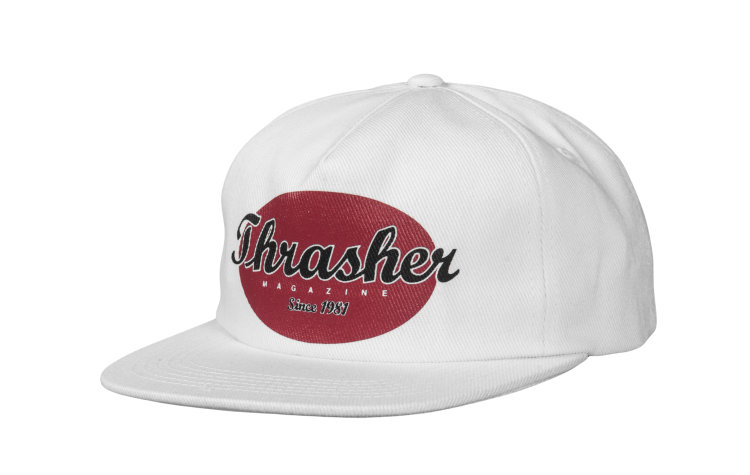 THRASHER Oval Snap (565746-WHT)