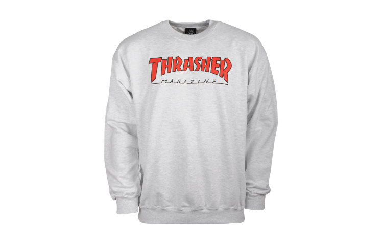 THRASHER Outlined Crew (422330-AGR)