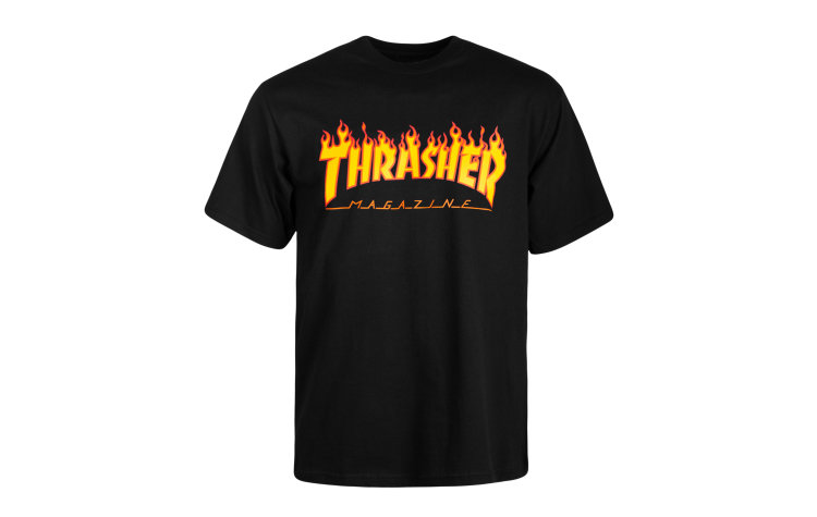 THRASHER Flame S/S (36093-BLK)