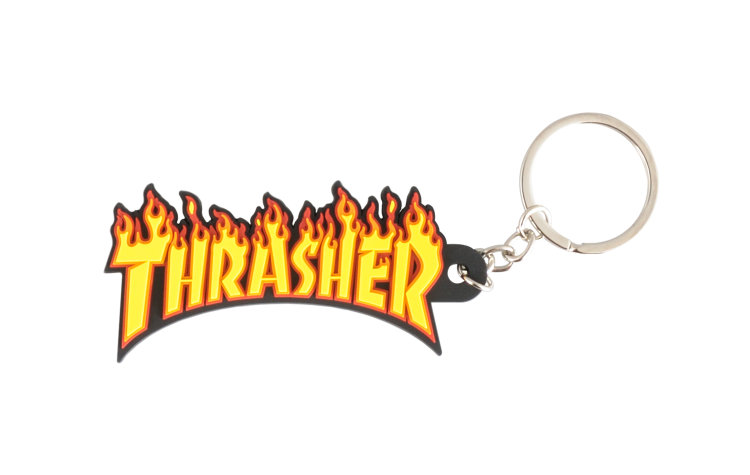 THRASHER Flame Logo Key Chain (972409-YEL)