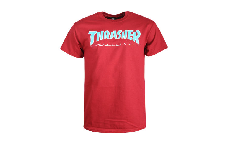 THRASHER Outlined S/S (395305-CAR)