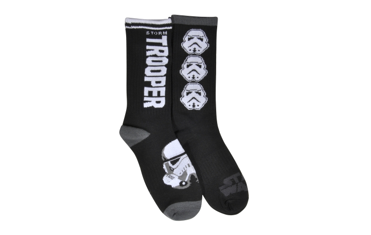 STAR WARS Youth Jacquard Crew Stormtrooper Sox 2*pack (Y0021D)